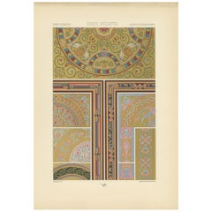 Pl. 39 Antique Print of Greek Motifs from Architecture by Racinet, circa 1890