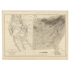 Pl. 6 Antique Chart of the Storm Centres of the United States by Walker, 1874