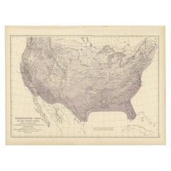 Pl. 7 Antique Temperature Chart of the United States by Walker, 1874
