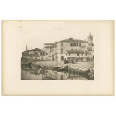 Pl. 74 Antique Print of St. Martha's Square in Venice, circa 1890