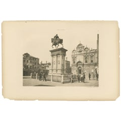 Pl. 78 Antique Print of San Zanipolo in Venice 'circa 1890'