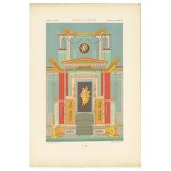 Pl. 8 Antique Print of Greek - Roman Ornaments by Racinet 'circa 1890'