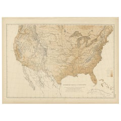 Pl. 9 Antique Hypsometric Sketch of the United States by Walker, 1874