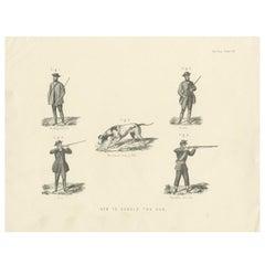 Pl. VIII How to Handle the Gun by Rapkin, circa 1855