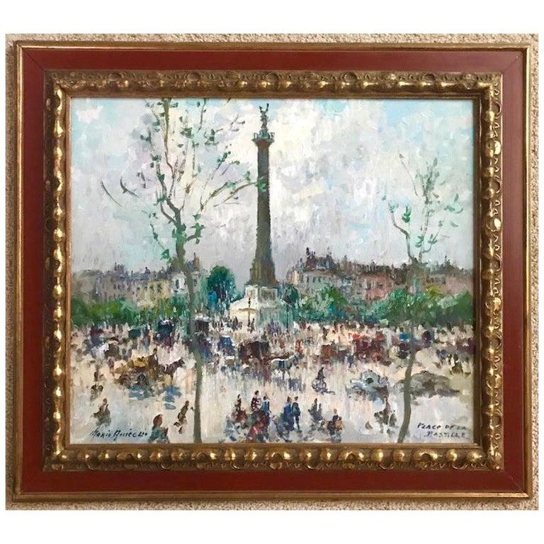 """""""Place De La Bastille, Paris"""" by Merio Ameglio For Sale"""