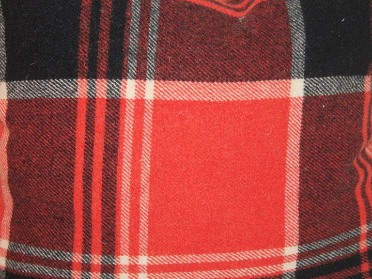 Country Plaid Pendleton Blanket Pillows or Pair For Sale