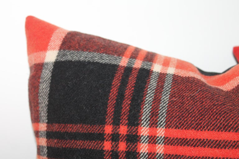 Plaid Pendleton Blanket Pillows, Pair In Excellent Condition For Sale In Los Angeles, CA