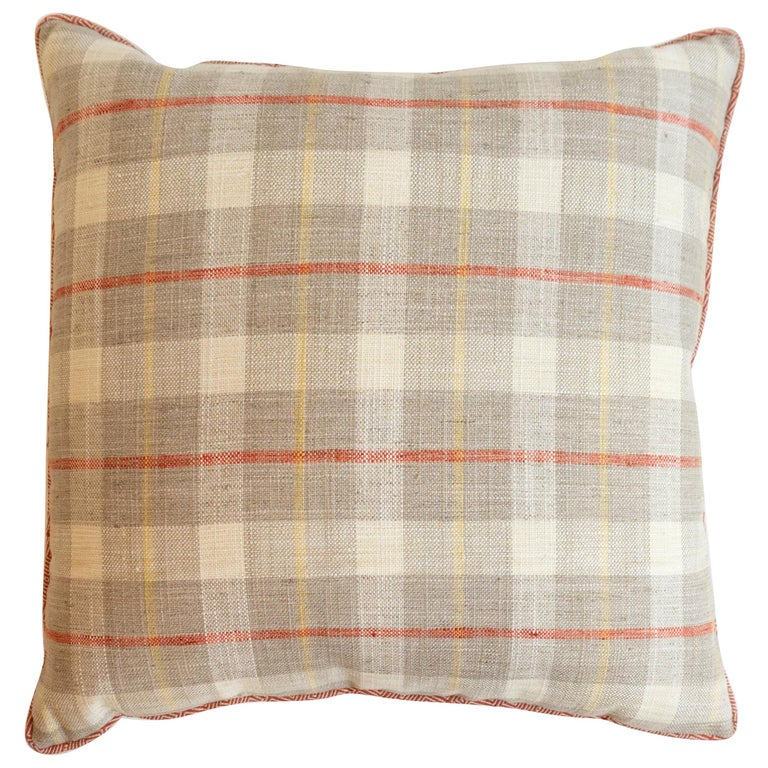 Plaid Square Throw Pillow For Sale