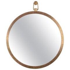 """Plain"" Brass Frame Mirror by Lukasz Friedrich"