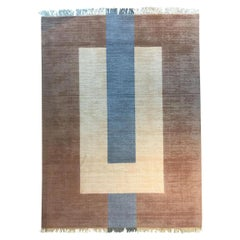 """Plain Brown"" Flat-Weave Wool Rug Designed by Cecilia Setterdahl for Carpets CC"