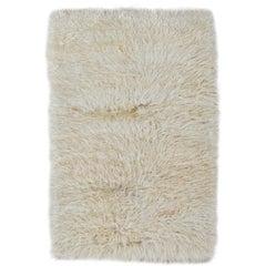 Shag Pile Mohair Rug. Made of Natural Undyed Mohair Wool. Custom Options Avl.