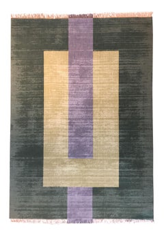 """Plain Green"" Flat-Weave Wool Rug by Cecilia Setterdahl for Carpets CC"