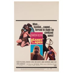 'Planet of the Apes' 1968 US Window Card Film Poster