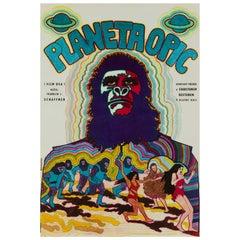 Planet of the Apes Original Czech Film Poster, Vratislav Hlavatý, 1970