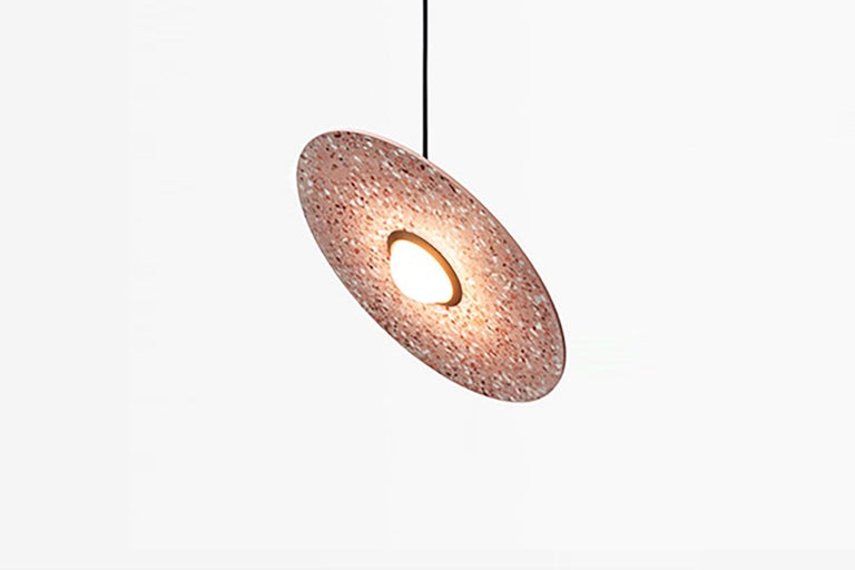 Terrazzo pendant lamps designed by Cantonese studio Bentu Design