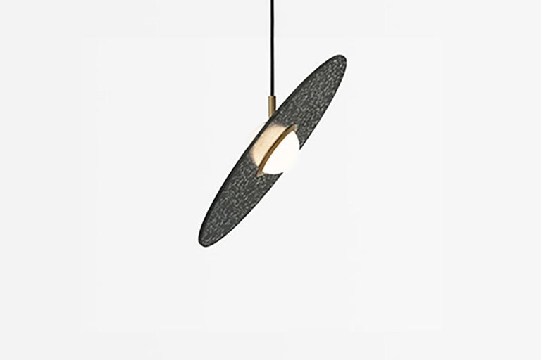 Industrial 'Planet' Terrazzo Pendant Lamp by Bentu Design 'White, Black, Red or Blue' For Sale