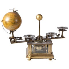 Planetarium, Tellurium Clock with Rotating Globe, London, Cambridge, 1925
