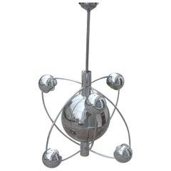 Planetary Universe Sun Chandelier Chromed Italian Design 1970 Planets Reggiani