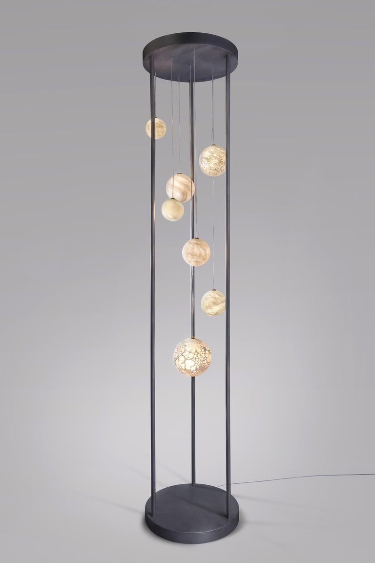 Contemporary Planets Floor Lamp, Ludovic Clément d'Armont For Sale