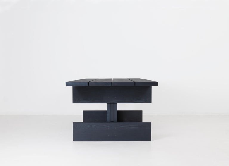Modern Plank Contemporary Table in Ash Wood by Llot Llov For Sale