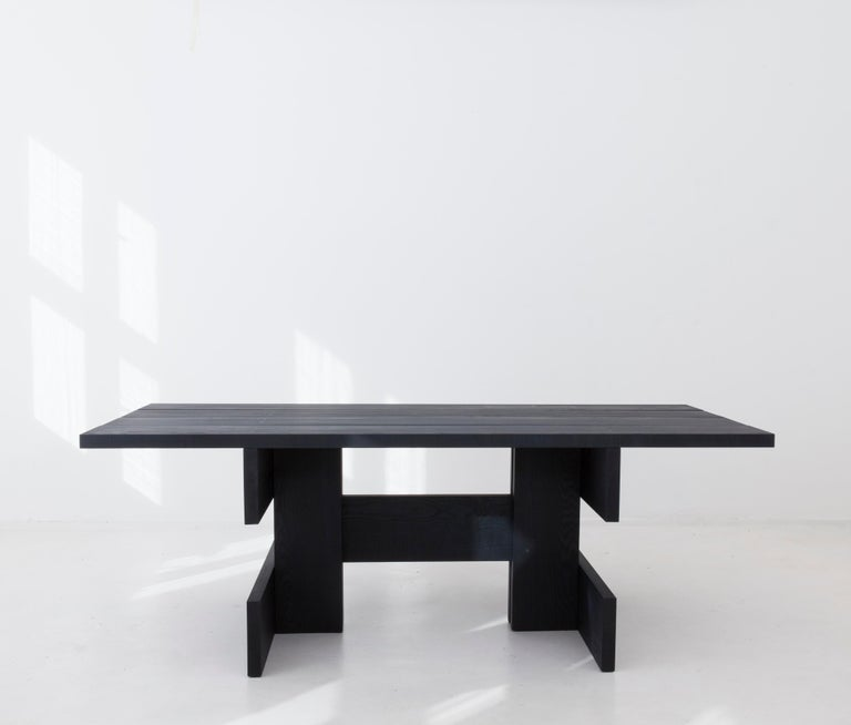 Latvian Plank Contemporary Table in Ash Wood by Llot Llov For Sale