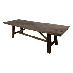 Plank Top Dining Table, Reclaimed Wood