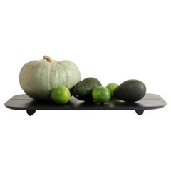 Plank Tray Black Minimal Modern Ash Serving Pedestal Display Object