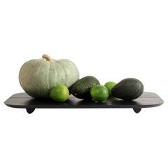 Plank Tablett Schwarz Minimalistisch Asche Serverpodest, Ausstellungsstück