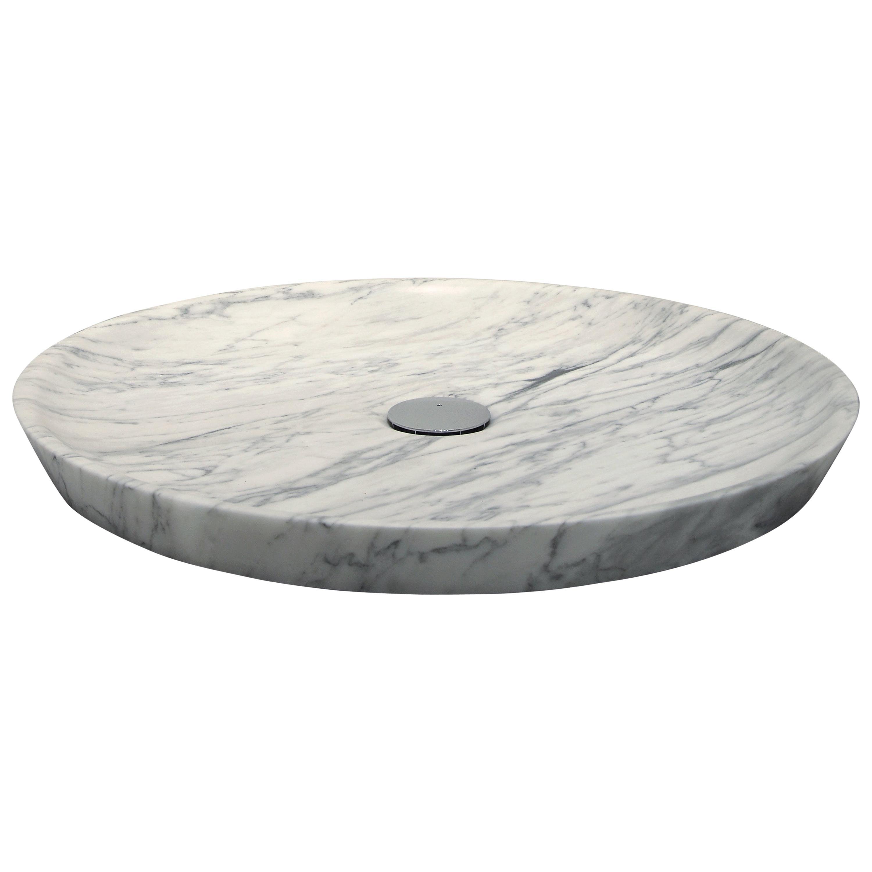 """Plano"" Shower Tray in Bianco Carrara Marble Customizable by Pibamarmi"