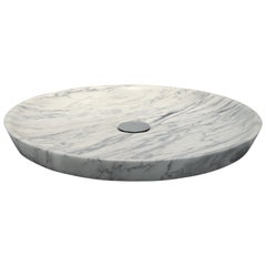 """Plano"" Shower Tray in Bianco Carrara Marble Customizable by Pibamarmi"