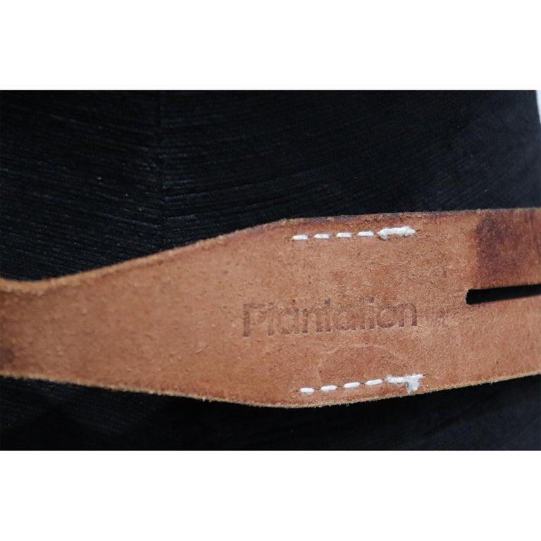 Plantation brown leather double band W/ Loop and Front Buckle For Sale 1