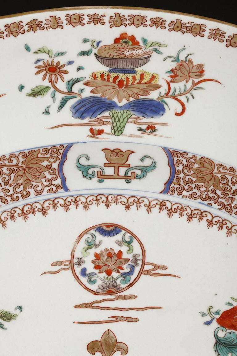 Planter and Decorative Dish Attributed to Samson & Cie For Sale 2