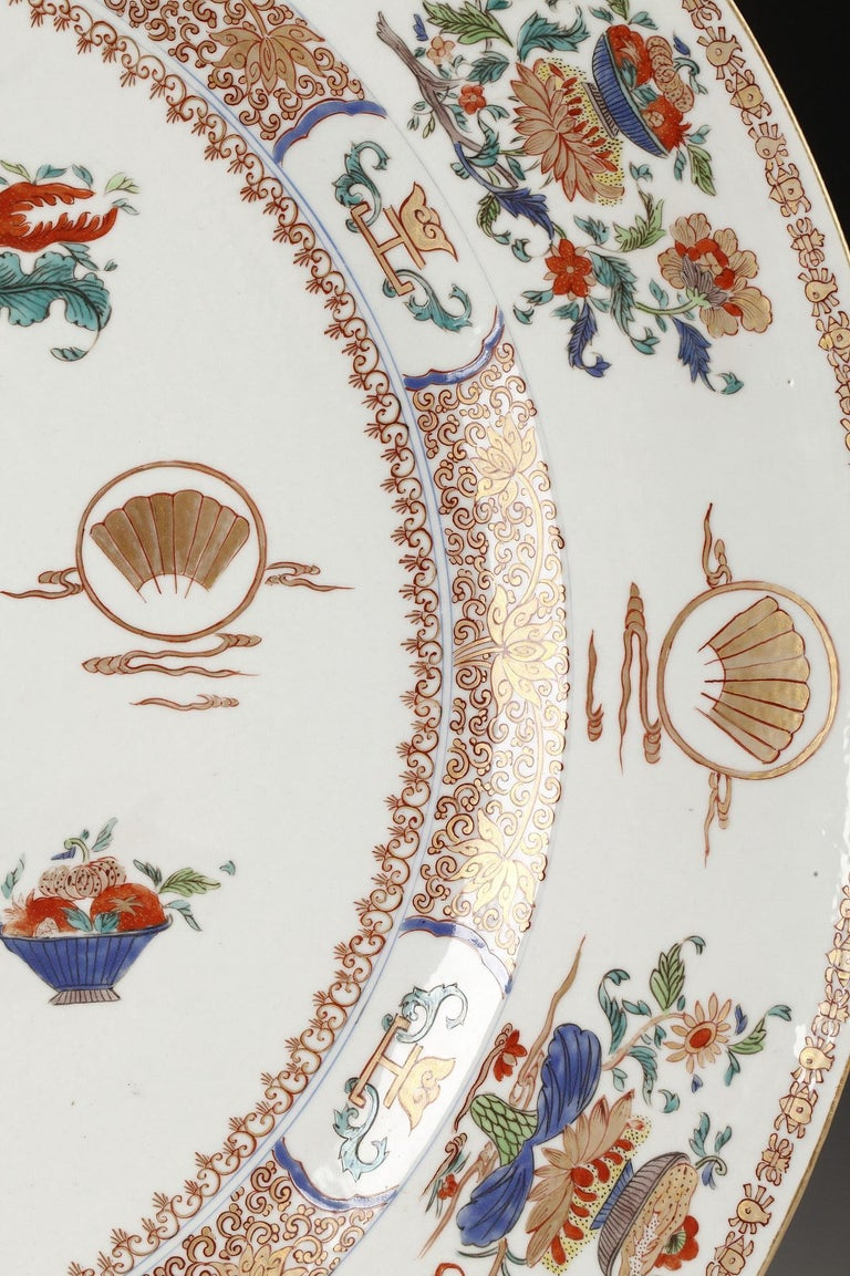 Planter and Decorative Dish Attributed to Samson & Cie For Sale 3