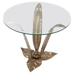 Planting Side Table in Solid Brass