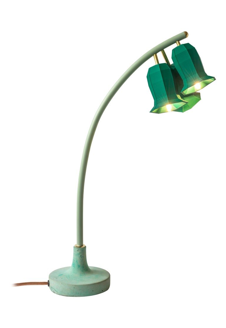 Modern Plant Lamp Table Green For Sale
