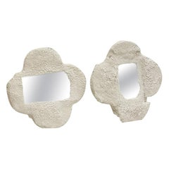 Plaster and Sand Clover Mirrors