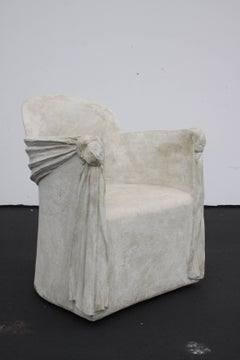 Plaster Armchair of Draped Form in the Style of John Dickinson