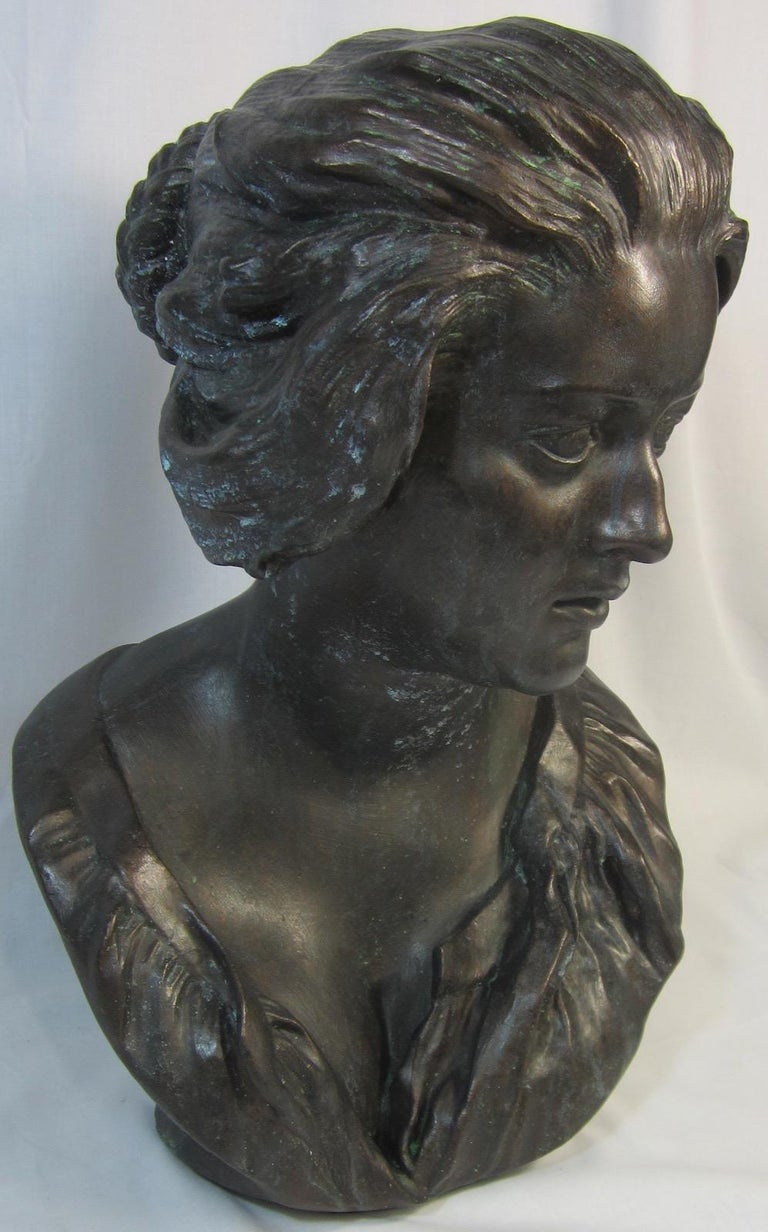 Renaissance Plaster Bust, Costanza after Benini For Sale