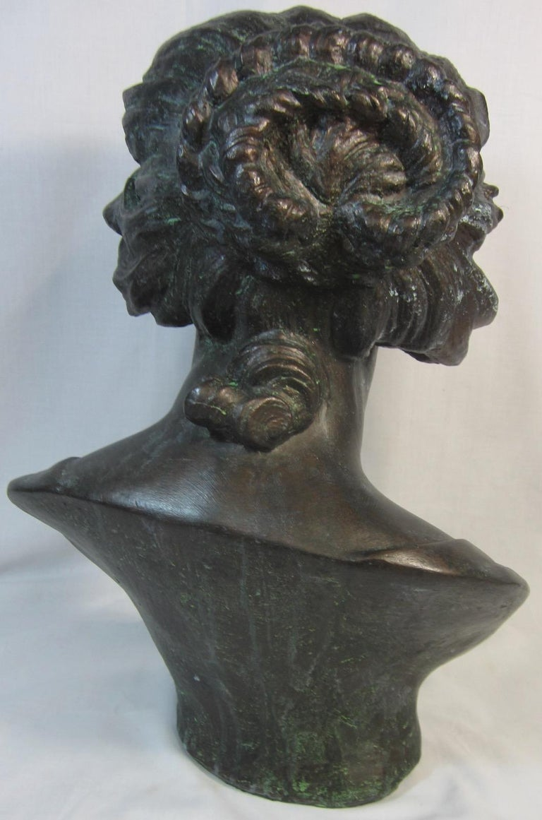 Hand-Crafted Plaster Bust, Costanza after Benini For Sale