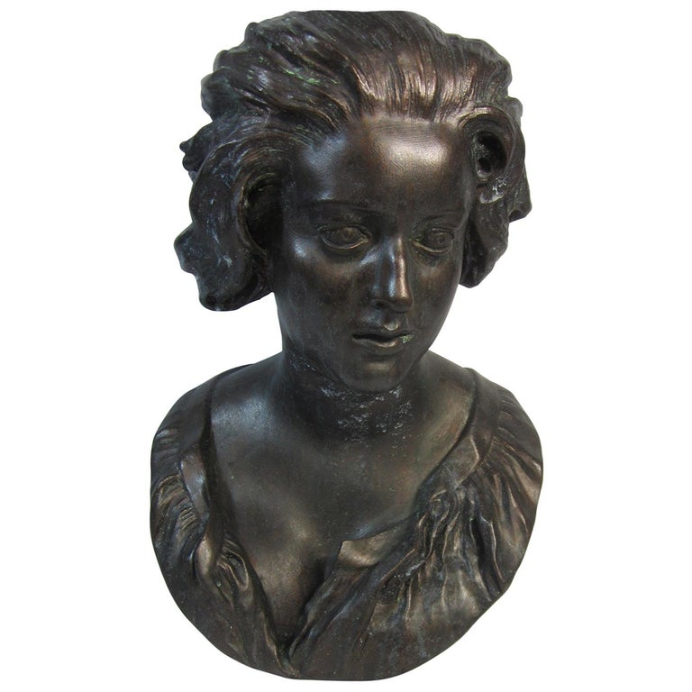 Plaster Bust, Costanza after Benini For Sale