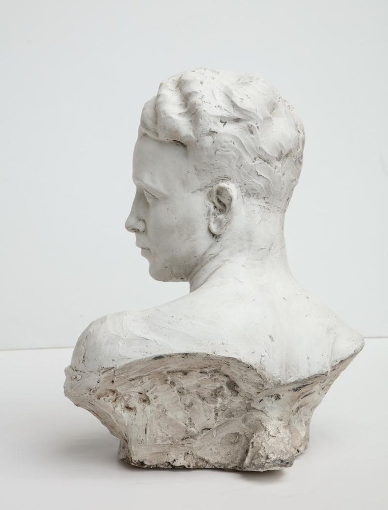 Italian Plaster Bust of a Man For Sale