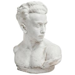 Plaster Bust of a Man