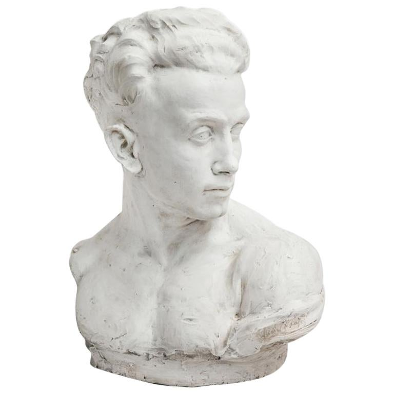 Plaster Bust of a Man For Sale