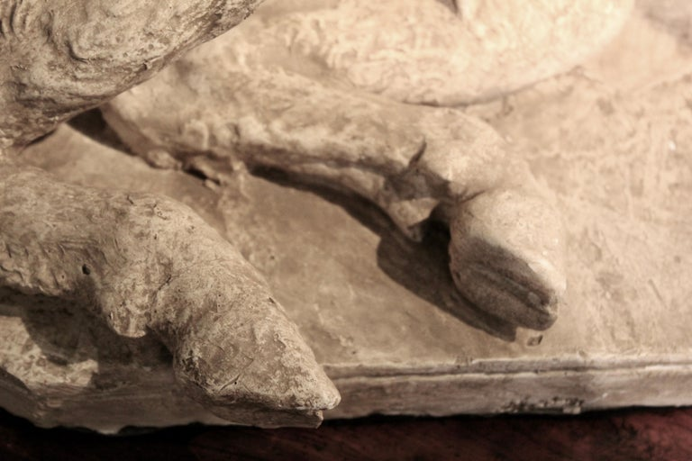 Plaster Cast of Seated Wild Boar after Roman Original For Sale 5