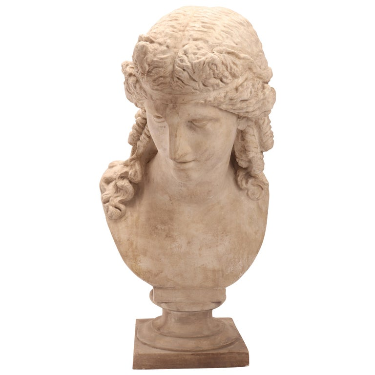 Plaster Cast the Head of Arianna, Italy, 1890 For Sale