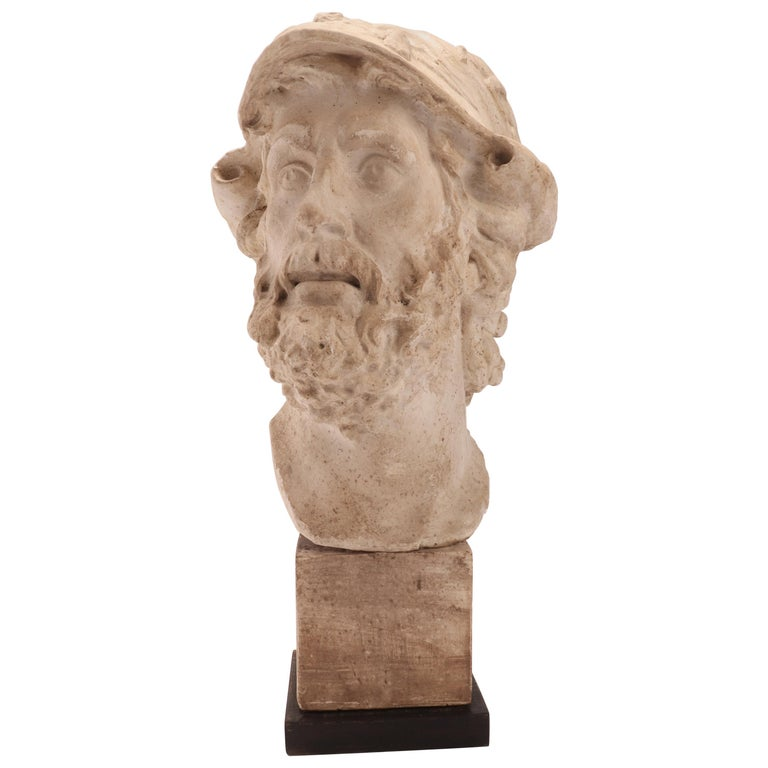 Plaster Cast: the Head of Menelao, Italy, 1890 For Sale