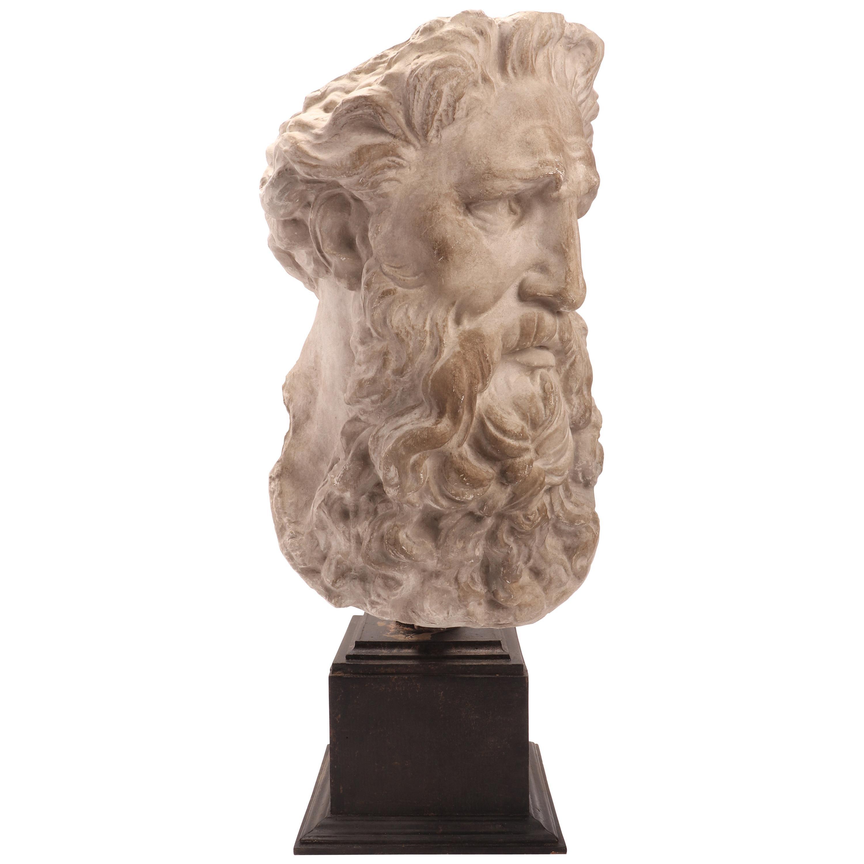 Plaster Cast the Head of Neptune, Italy, 1890