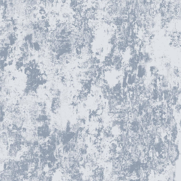 Modern Plaster, Cirrus Colorway, on Smooth Wallpaper For Sale