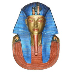 Plaster Egyptian Wall Hanging Bust of King Tut