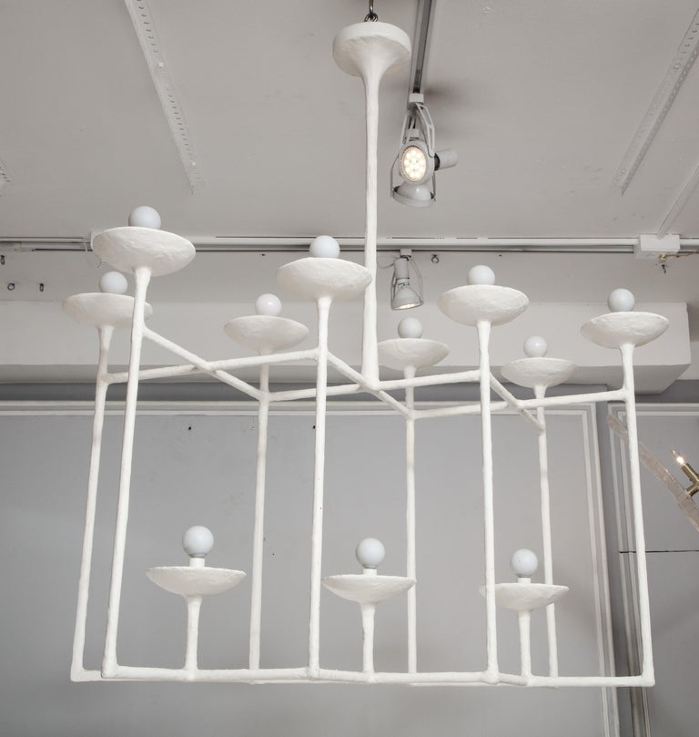 Plaster Fixture in the Manner of Giacometti For Sale 2